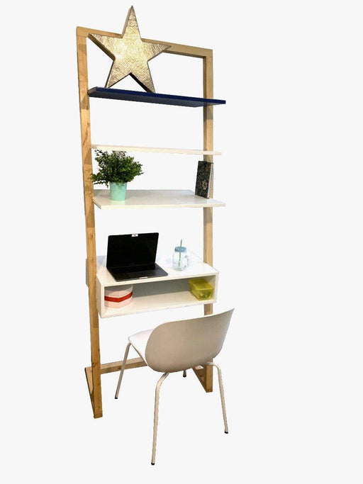 Green Furniture Leaning Ladder Desk With Overhead Storage-Work Desk on -Homely.co.ke