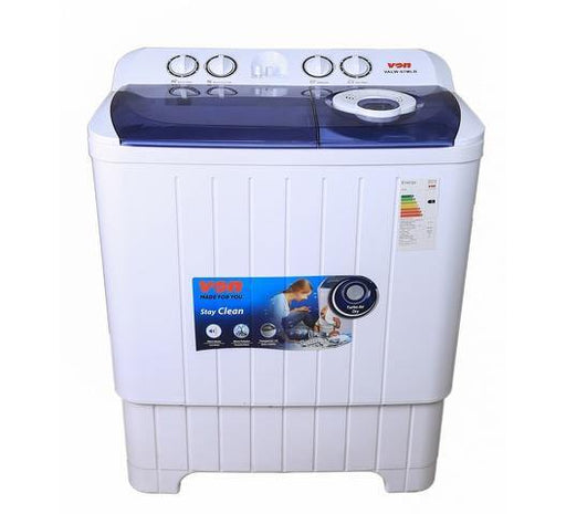 Von VALW-07MLB Twin Tub Washing Machine - White-Washing Machine on -Homely.co.ke