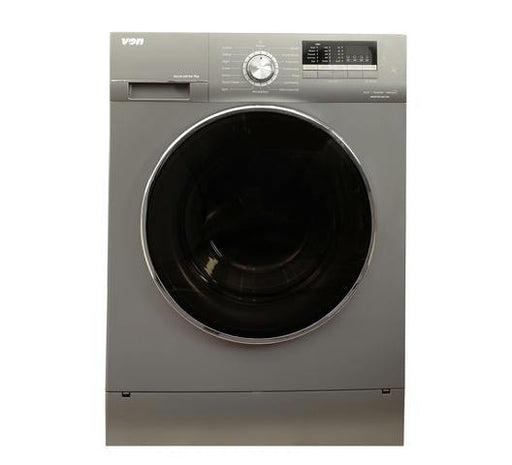 Von VALW-09FXK Front Load Washing Machine - Silver-Washing Machine on -Homely.co.ke