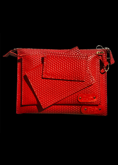 Set Red Embossed