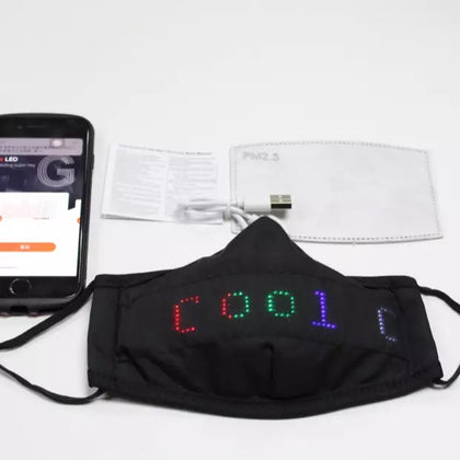 FLASHING MESSAGE SMART MASK