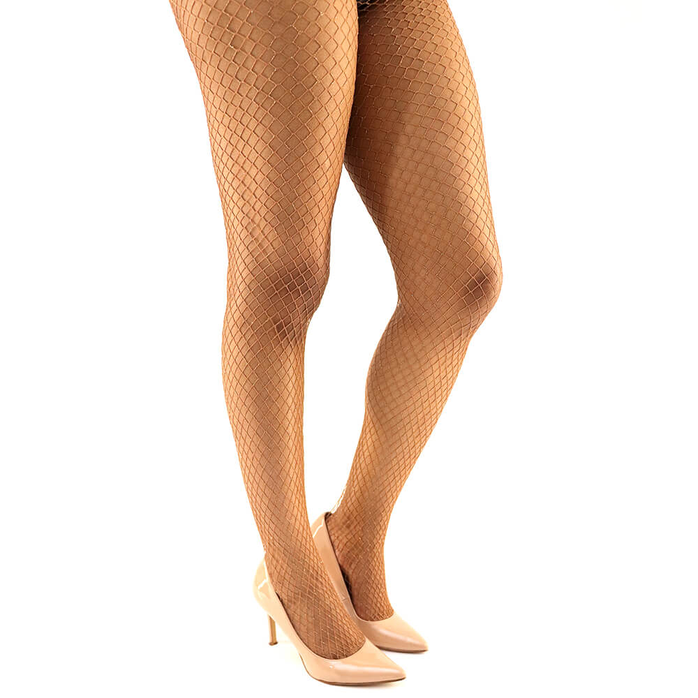 LUXE GOLD GLITTER FISHNETS