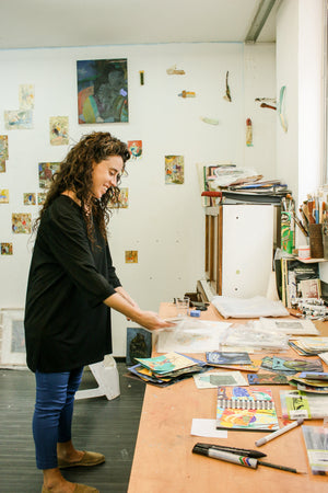 Studio Visit with artist Shani Weiss - Karma Kollective