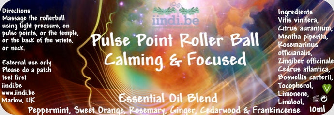 Boost the Home-Schooling Rhythm with iindi.be Pulse Point Roller Ball Essential Oil Blend.