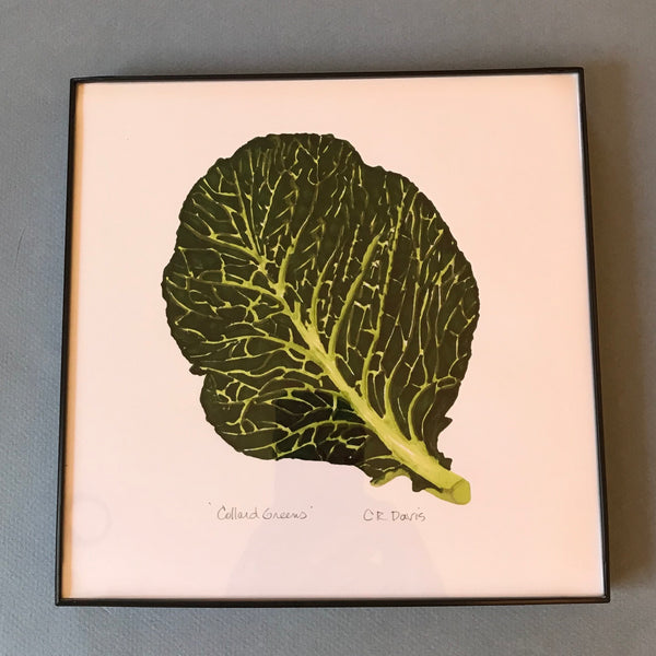 Framed Collard Greens Art Print