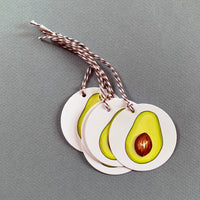Set of 6 Avocado Gift Tags