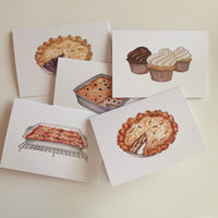 Set of 5 Bakery Greeting Cards