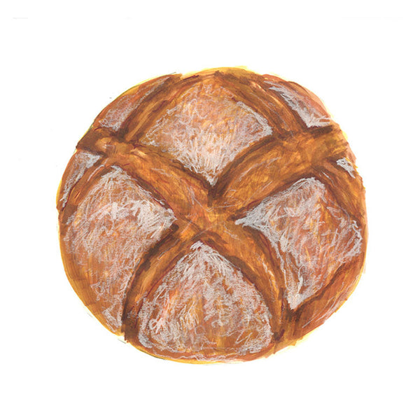 Peasant Bread Art Print
