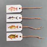 Set of 12 Fish Gift Tags