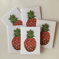 Set of 5 Pineapple Greeting Cards