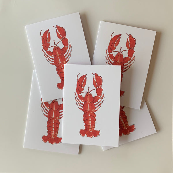 Set of 5 Lobster Greeting Cards