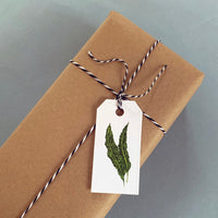 Set of 12 Greens Gift Tags