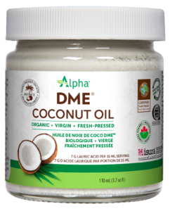 Alpha DME Coconut Oil - Organic, Virgin, Cold-Pressed 110ml