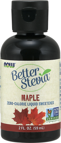 NOW BetterStevia® Liquid Drops - Maple