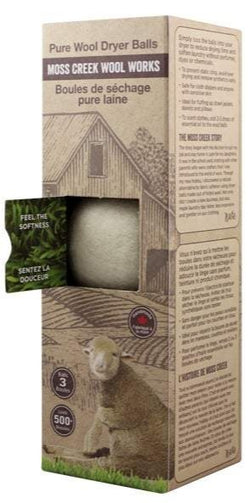 Moss Creek- Pure Wool Dryer Balls (3) White