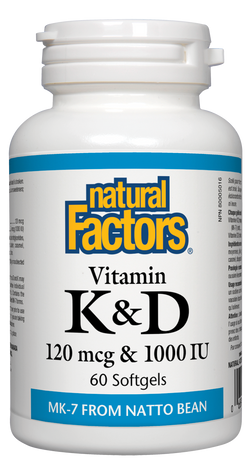 Vitamin K & D - 60 Softgels