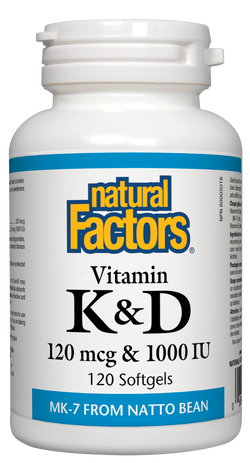 Vitamin K & D - 120 Softgels