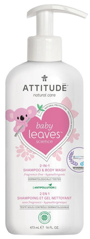 Attitude Baby 2-In-1 Shampoo and Body Wash Fragrance Free