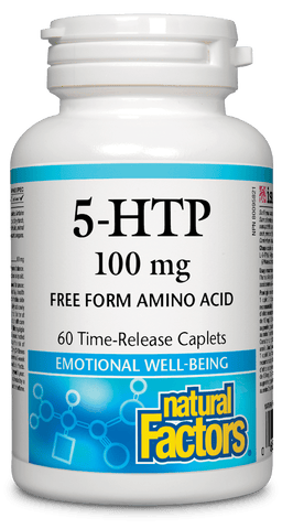 5-HTP 100 mg Time-Release Caplets (2 sizes)