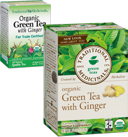Green Tea with Ginger Organic