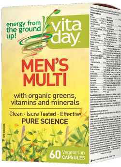 VitaDay Multi Organic Greens, Vitamins & Minerals - Men's