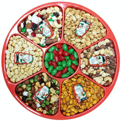 "Gift Tray - Six Nuts with Candy Center & Chocolate Accents  12"" - #60003"