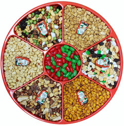 "Gift Tray - Six Nuts with Candy Centre and Chocolate Accents 16"" - #60004"