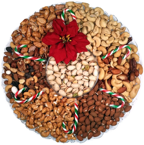 "Beautiful Gift Tray - Deluxe Nuts with Pistachio Center 13.5"" - #60005"