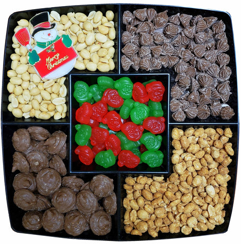 "Gift Tray - Nut & Chocolate with Ju-Jube Center 12"" Square - #60012"