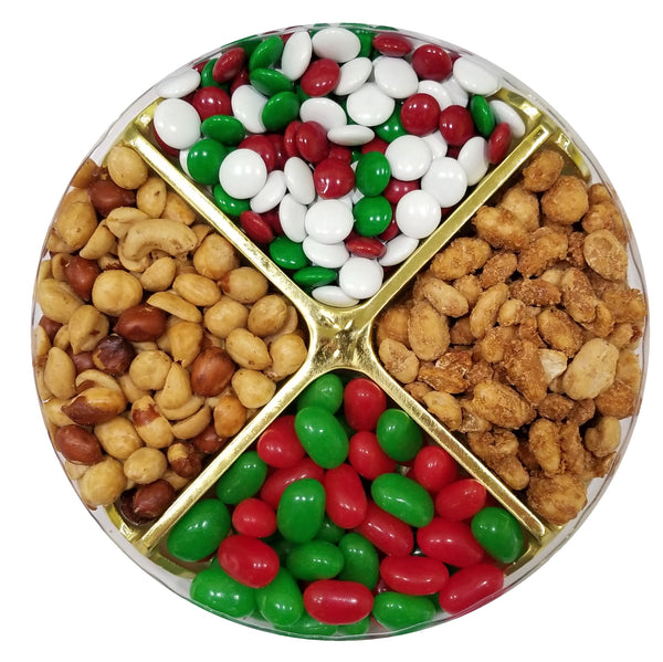 "Gift Tray - 2 Candy &  2 Nut 7"" - #60020"