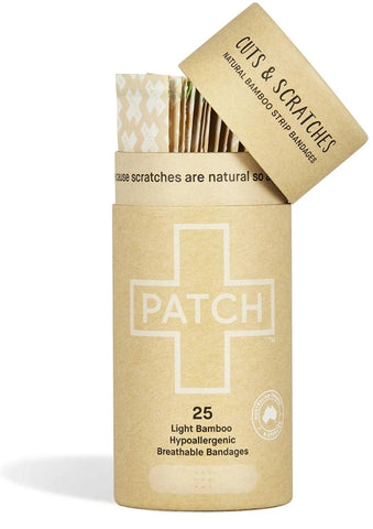 Patch Biodegradable Bamboo Bandages - Natural for Cuts & Scratches