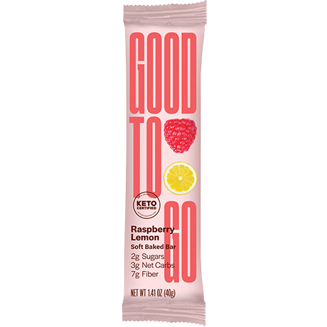 GOOD TO GO Keto Snack Bar - Raspberry Lemon