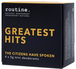 Routine Cream Deodorant Greatest Hits Minis Kit