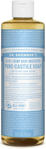 Castile Liquid Soap - Baby Mild : 3 SIZES AVAILABLE