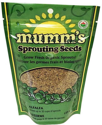 Mumm's Organic Sprouting Seeds - Alfalfa