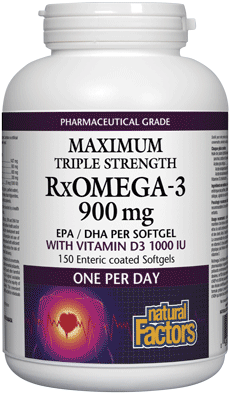 RxOmega-3 900 mg - Maximum Triple Strength with D3 1000iu