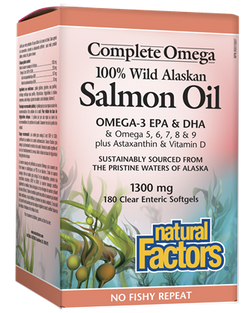 Complete Omega Wild Alaskan Salmon Oil Clear Enteric Coated