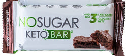 No Sugar Keto Bar - Chocolate Fudge Brownie (GF) (Plant Based)