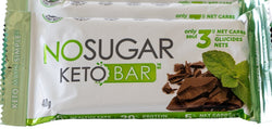 No Sugar Keto Bar - Chocolate Mint (GF) (Plant-Based)