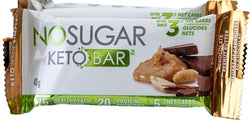 No Sugar Keto Bar - Chocolate Peanut Butter (GF) (Plant-Based)
