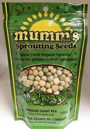 Mumm's Organic Sprouting Seeds - Oregon Giant Peas