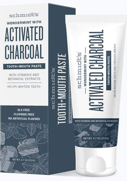 Schmidt's Wondermint® with Activated Charcoal Tooth + Mouth Paste