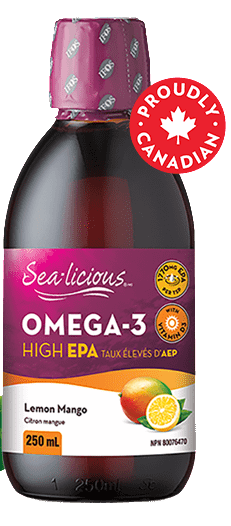 Sea-licious Omega-3 High EPA Lemon Mango