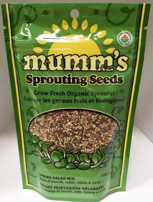 Mumm's Organic Sprouting Seeds - Spring Salad Mix
