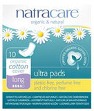 Ultra Pads with Wings, Long ORGANIC, PLASTIC FREE, PERFUME & DYE FREE