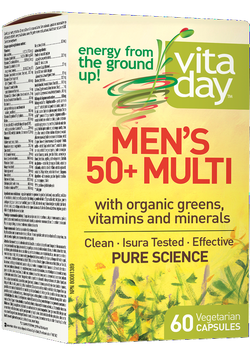 VitaDay Multi Organic Greens, Vitamins & Minerals - Men's 50+