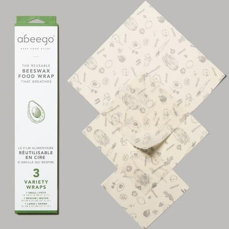 Abeego Reusable Beeswax Food Wraps - 5 size options