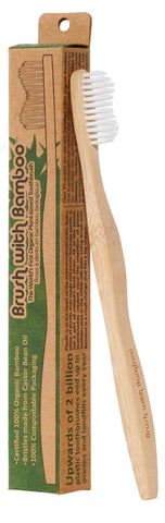 Bamboo Toothbrush 100% Plant-Based - Adult Soft