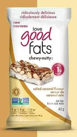 Love Good Fats Keto - Chewy Nutty Salted Caramel Bar