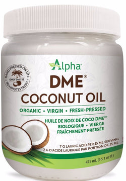 Alpha DME Coconut Oil - Organic, Virgin, Cold-Pressed 475ml